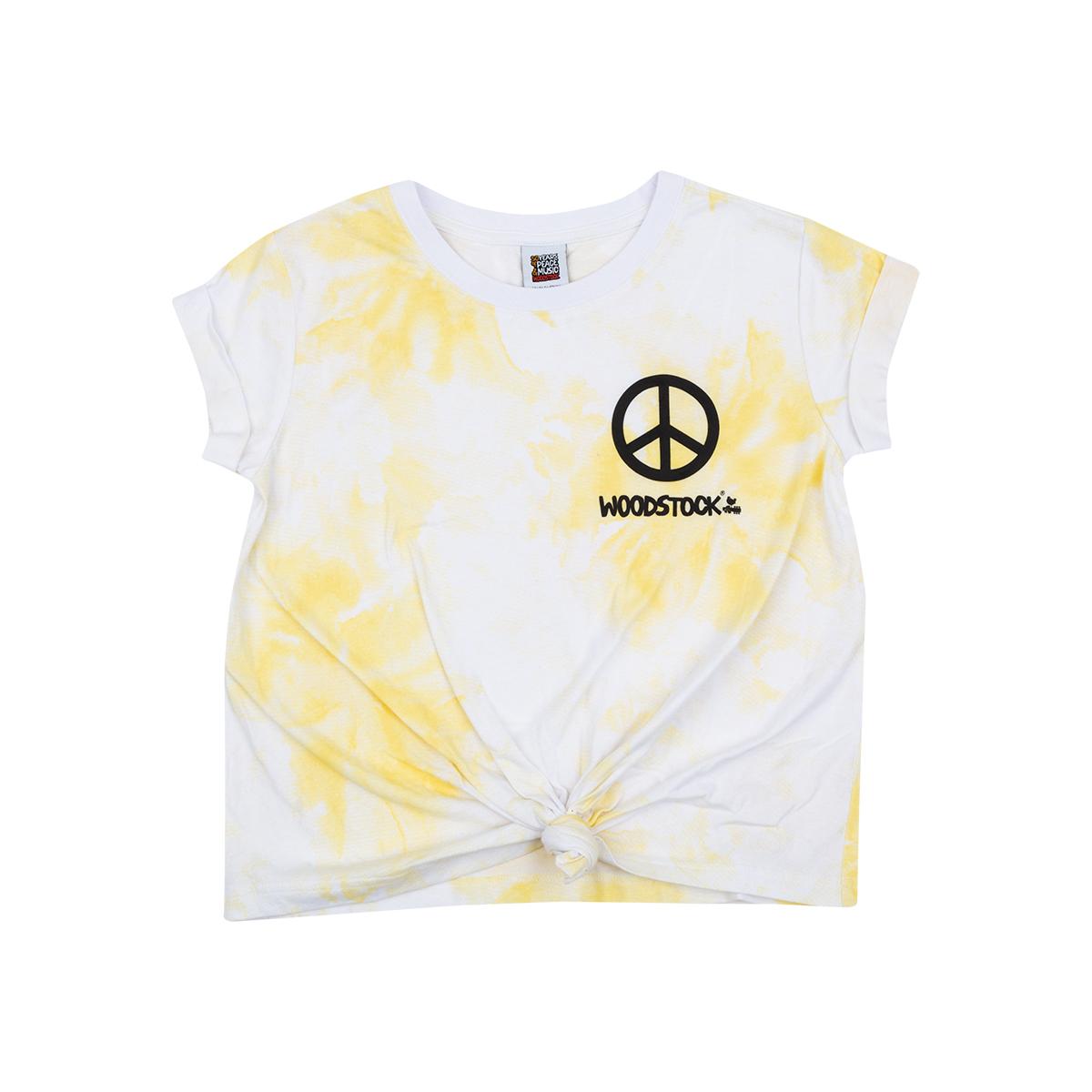 Woodstock Yellow Tie Dye Girls Shirt