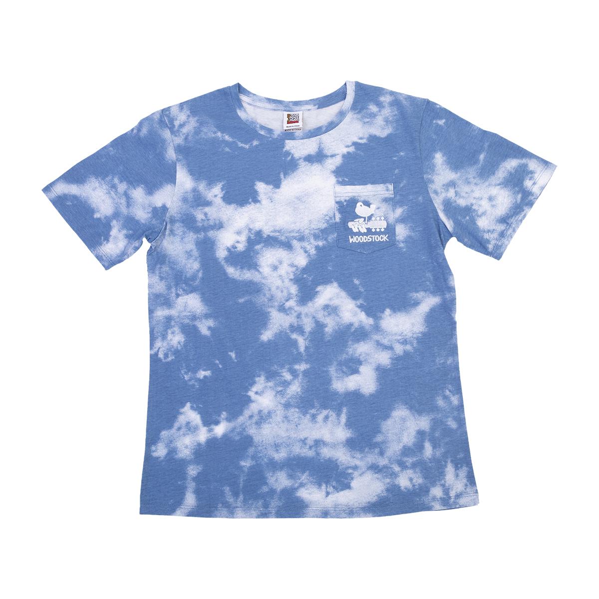 Woodstock Blue Tie Dye Pocket T-shirt
