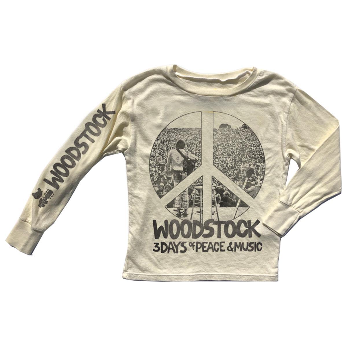Woodstock Peace Sign Unisex Longsleeve Tee