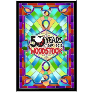Woodstock Stained Glass 50th Anniversary Tapestry