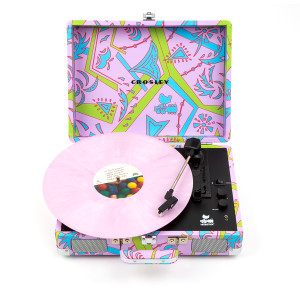 Woodstock Psychedelic Retro Portable Suitcase Turntable