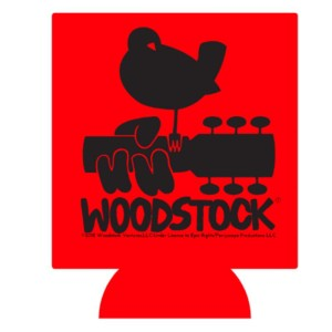 Woodstock Logo Can Koozie(Black Logo)