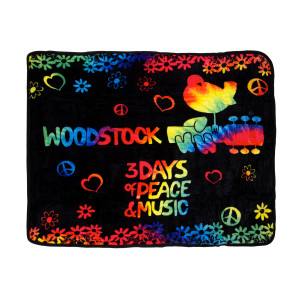 Woodstock 3 Days Of Peace Tie Dye Throw