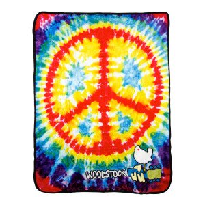 Woodstock Peace Sign Tie Dye Throw