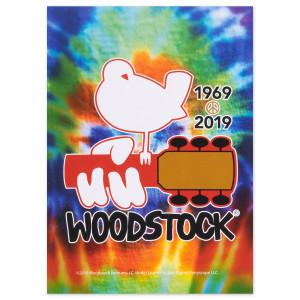 Woodstock 50 Year Anniversary Tie Dye Postcard
