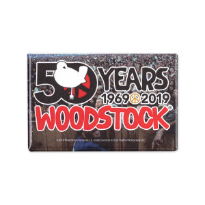 50th Anniversary Logo Crowd Close Up Magnet