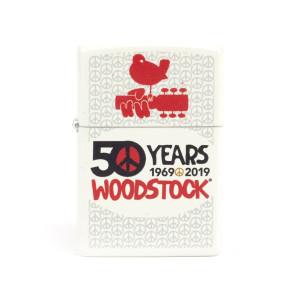 Woodstock 50 Years White Zippo