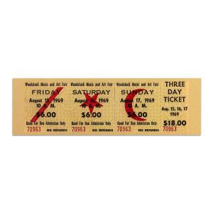 Woodstock Ticket Magnet