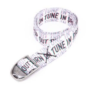 "Woodstock ""Tune In, Turn On, Drop Out"" Chaco Bottle Opener Belt"