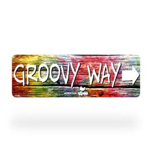 Woodstock Groovy Way Street Sign