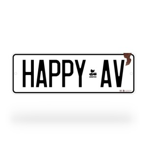Woodstock Happy Ave Street Sign