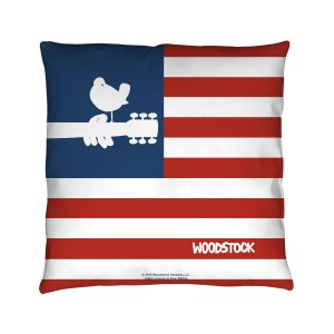 Woodstock Flag Throw Pillow