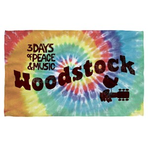 Woodstock Tie Dye Bath Towel
