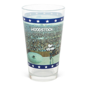 Woodstock Crowd Photo Wrap Pint Glass