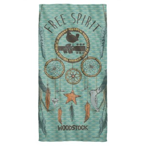 Woodstock Feathers Beach Towel