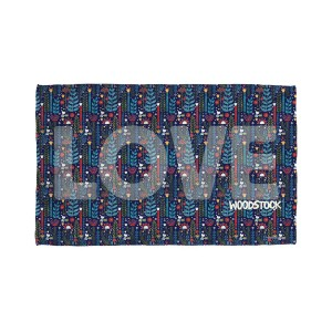 Woodstock Flower Love Golf Towel