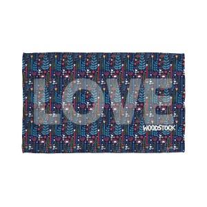 Woodstock Flower Love Golf Towel