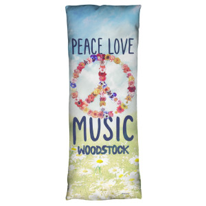 Woodstock Open Love Microfiber Body Pillow
