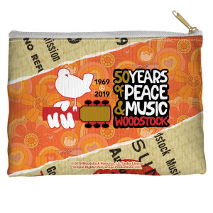 Woodstock 50 Year Ticket Accessory Pouch