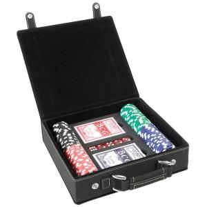 Textured Logo Laser Engraved Poker Set