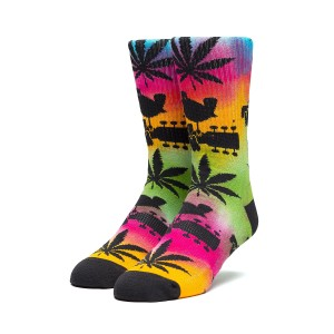 Woodstock x HUF Multicolored Plant Life Sock