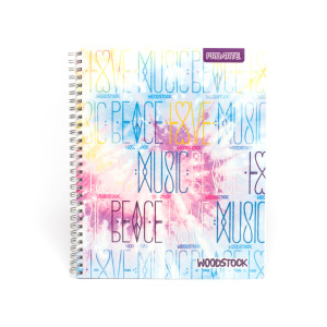 Woodstock Peace Love and Music Mini Notebook