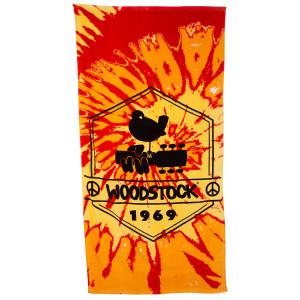 Woodstock Tie Dye Logo Bath Towel