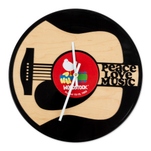 Woodstock Peace Love Music Clock