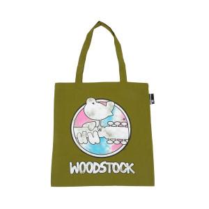 Woodstock Logo Army Green Tote