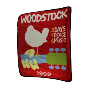 Woodstock 1969 Poster Throw Blanket