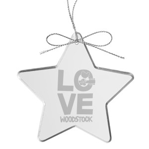 Love Star Laser-Etched Glass Ornament