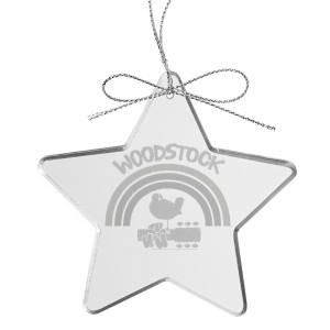 Rainbow Star Laser-Etched Glass Ornament