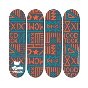 Blue & Orange Skateboard Wall Hanging