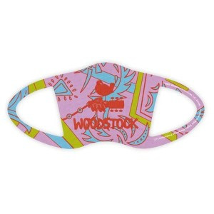 Woodstock Logo Pink Face Covering