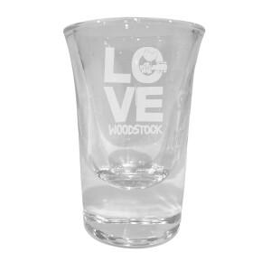 Love Laser Engraved Shot Glass