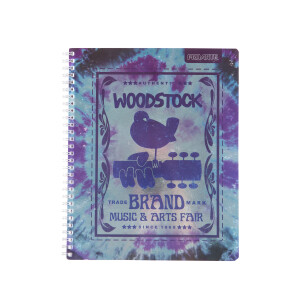 Woodstock Brand Tie Dye Notebook