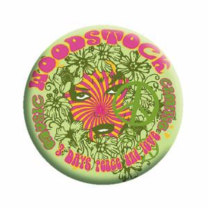 "Woodstock Green 1.25"" Button"