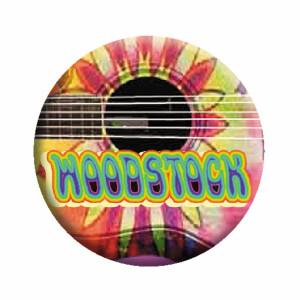 "Woodstock Guitar 1.25"" Button"