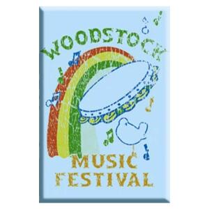 "Woodstock Tamborine 2.5""x3.5"" Magnet"