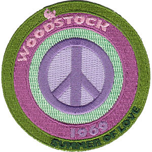 """Woodstock Peace Sign 3"""" Round Patch"""