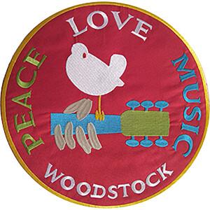 "Woodstock Logo 9"" Oversized Patch"