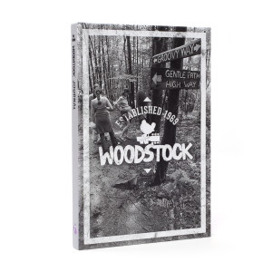 Woodstock Groovy Way Black and White Notebook
