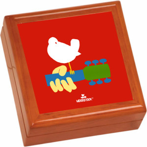 Woodstock Logo Wooden Keepsake Box