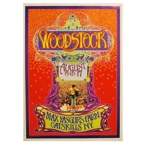 Woodstock Signed Bob Masse Poster