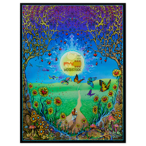 Woodstock Back To The Garden Foil Poster