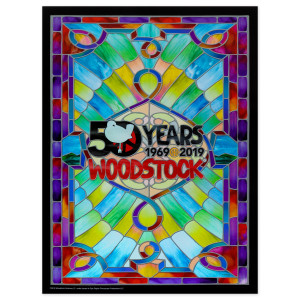 Stained Glass 50th Anniversary Foil Poster