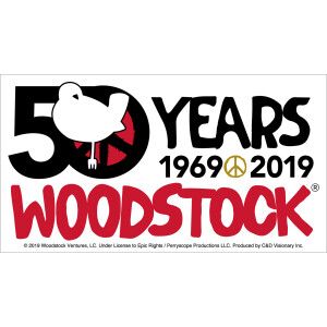 "Woodstock 50th Anniversary 5.5""x3"" Sticker"