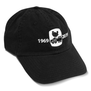 Woodstock 50th Anniversary Black Twill Cap
