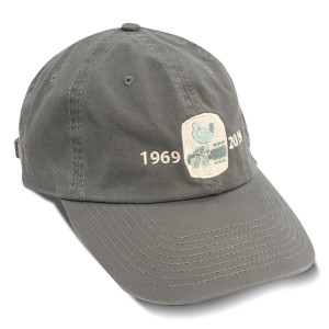 Woodstock 50th Anniversary Olive Twill Cap