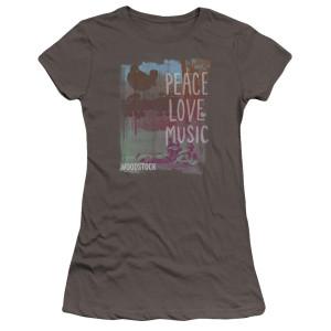 Junior's Woodstock Peace, Love, & Music Logo